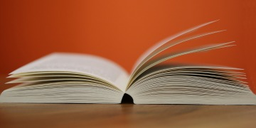 book, pages, orange