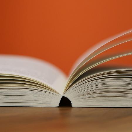 book, pages, orange