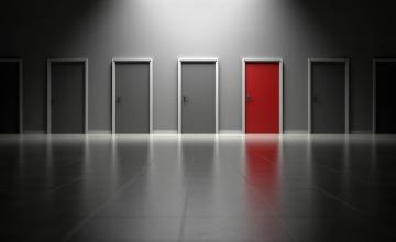 red door of choice