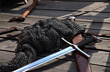 swords, chainmail, viking