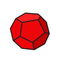 red d12 cartoon clipart