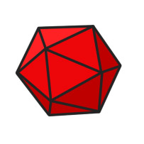 red d20 cartoon clipart