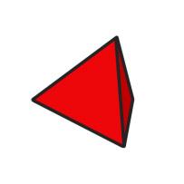 red d4 cartoon clipart