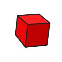 red d6 cartoon clipart